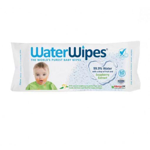 Waterwipes baba nedves törlőkendő, soapberry kivonattal, 60 lapos