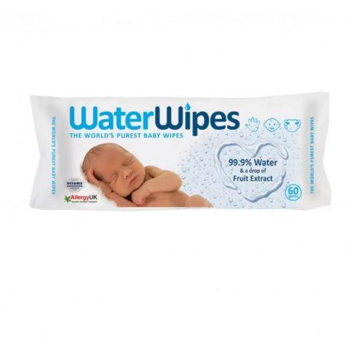 Waterwipes nedves törlőkendő, 60 lapos