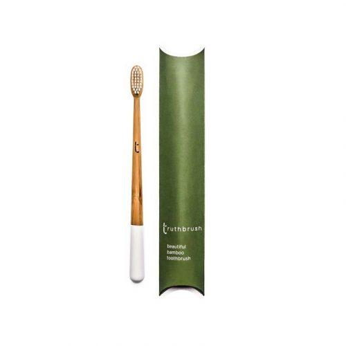 Truthbrush bambusz fogkefe, fehér