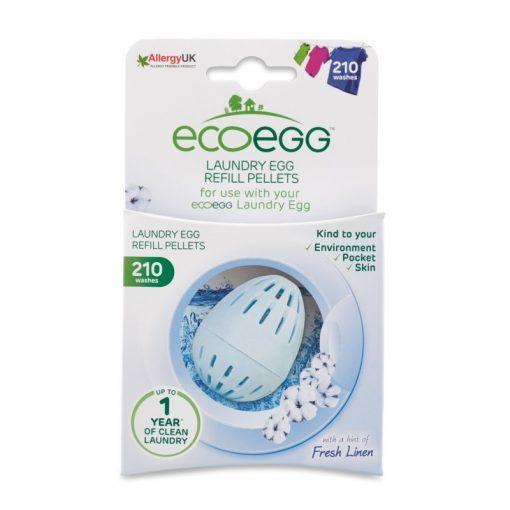 Utántöltő pellet ECO EGG mosótojásba, 210 mosásra, puha pamut