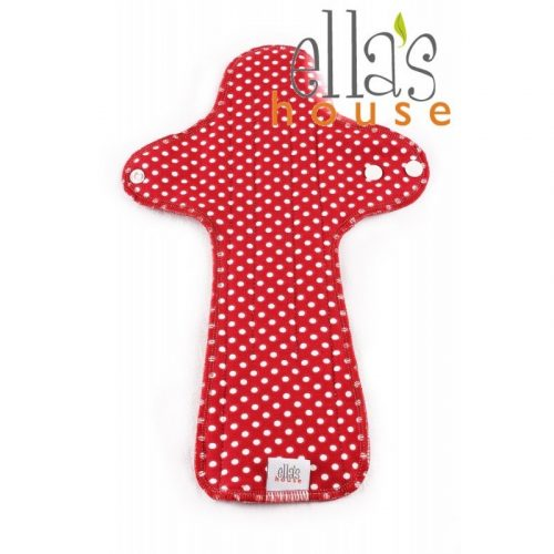Ella's House mosható női betét, maxi, piros pöttyös