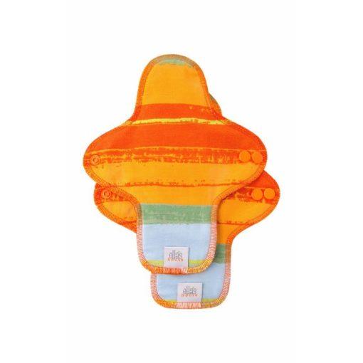 Ella's House mosható női betét, midi, limitált Jungle orange