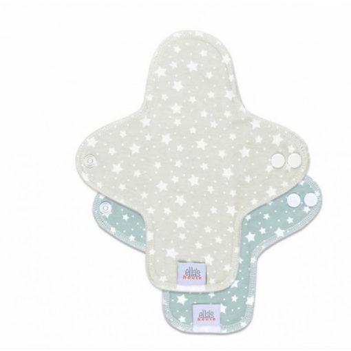 Ella's House mosható tisztasági betét, midi, stars cloud beige