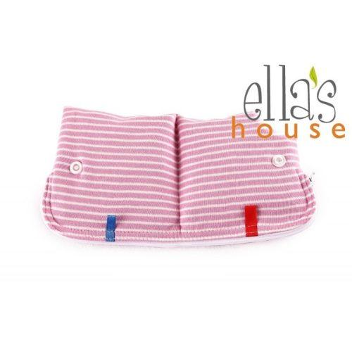 Ella's House betéttartó zsák, rózsaszín csíkos