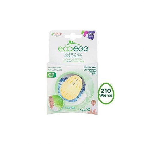 Utántöltő pellet ECO EGG mosótojásba, 210 mosásra, illatmentes