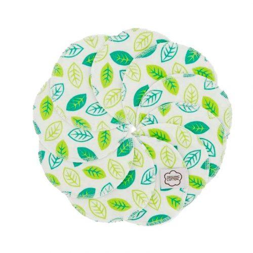 Imsevimse biopamut mosható arctisztító korong, Retro Leaves